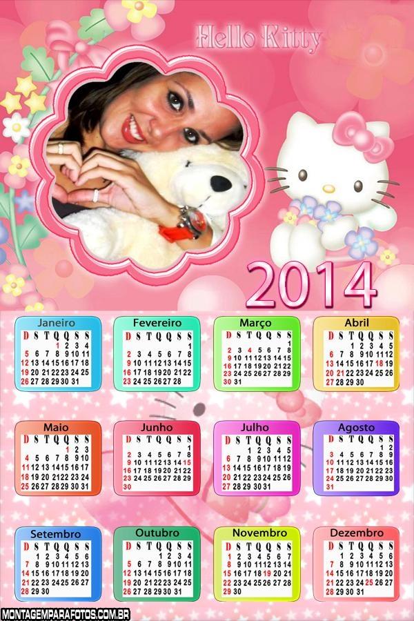 Calendário 2014 Hello Kitty