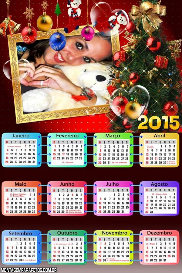 Calendário 2015 de Natal