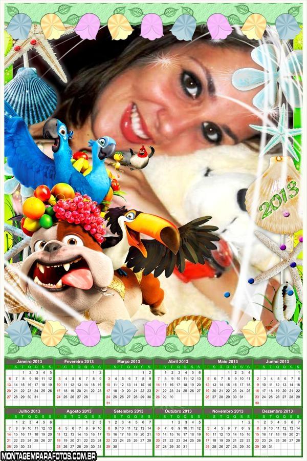 Animais Filme Rio Calendário