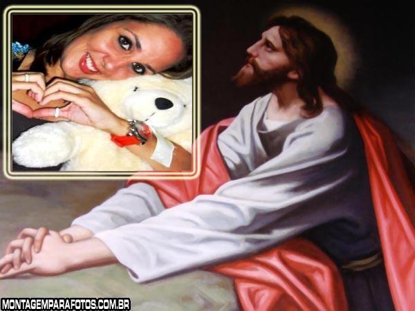 Moldura Jesus Orando