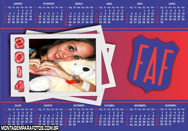 Calendário 2014 FAF AL