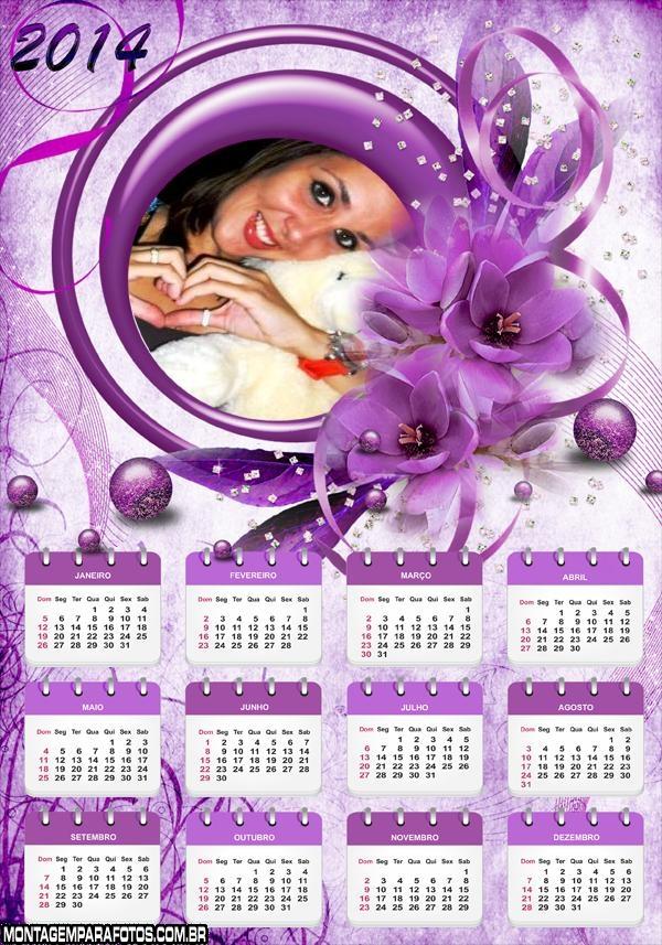 Calendário 2014 Violetas