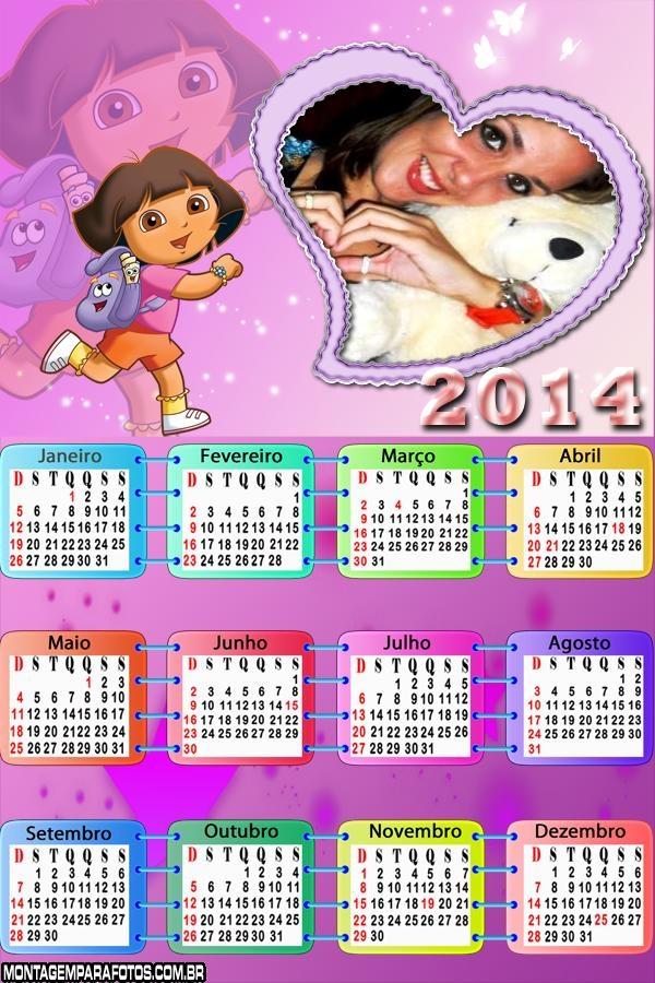 Calendário 2014 Dorinha