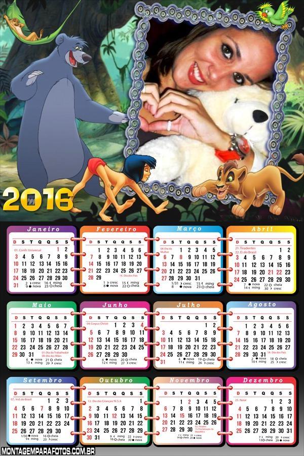 Calendário Tarzan Floresta 2016
