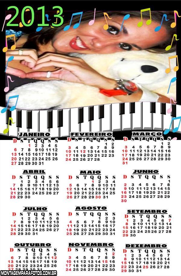 Calendário Teclado Musical