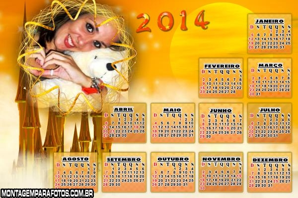 Moldura Sol Calendário 2014