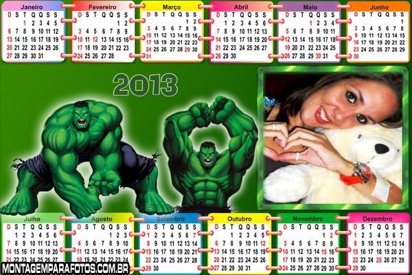 Calendário do Hulk 2013