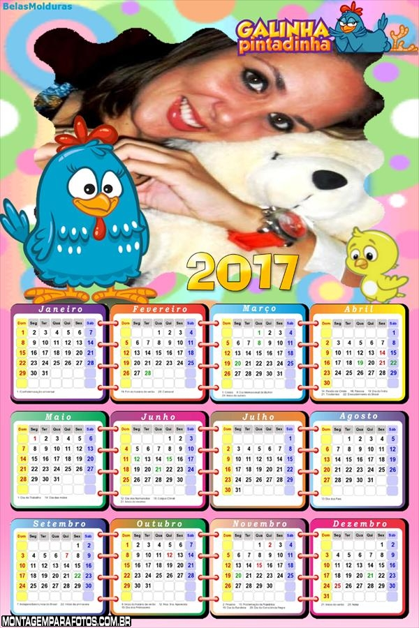Calendário 2017 Galinha