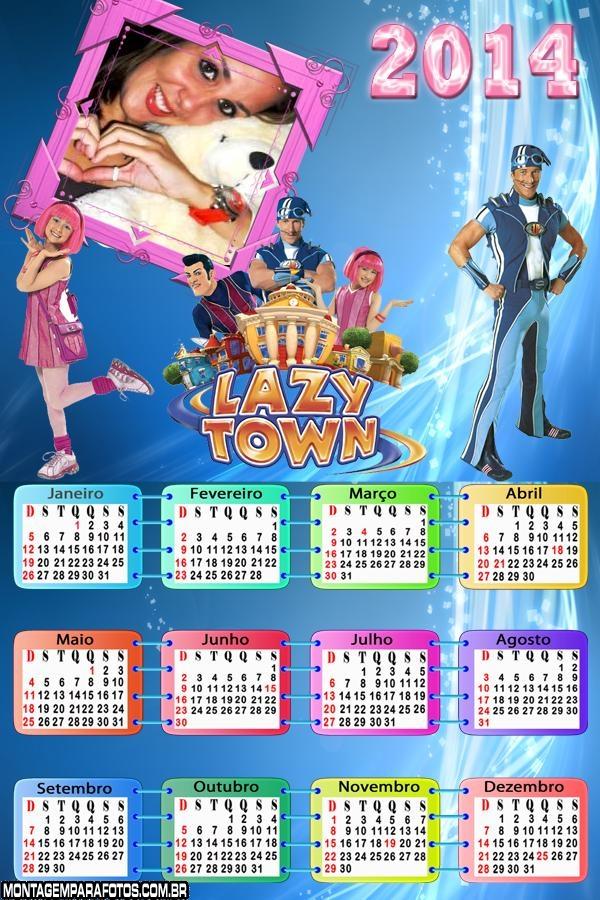 Calendário 2014 Lazy Town