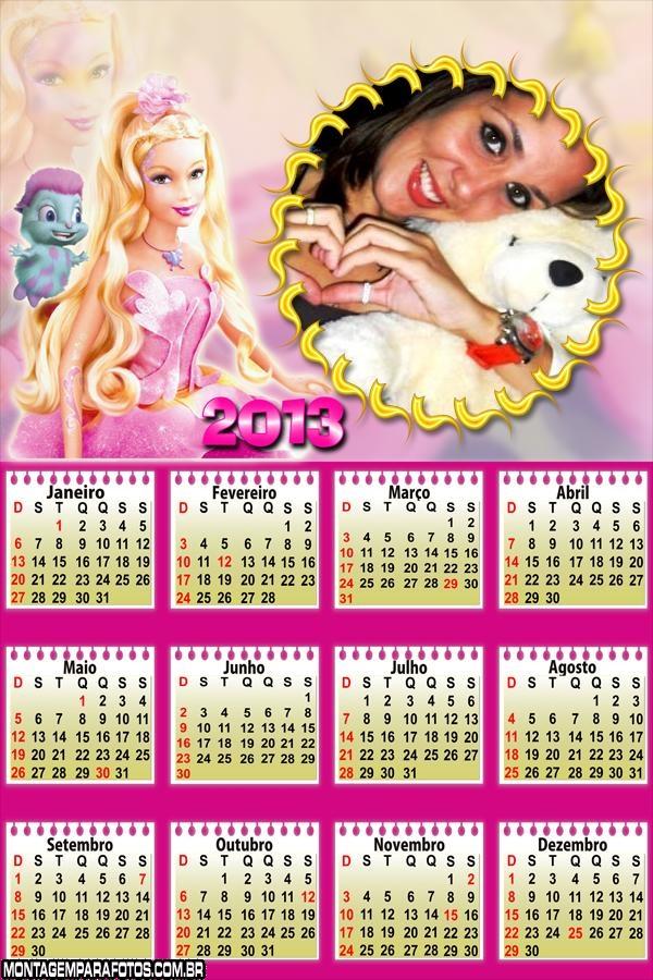 Barbie Calendário 2013
