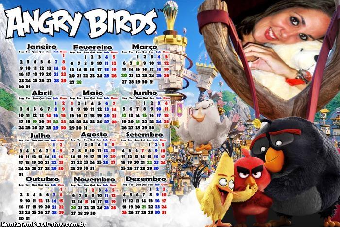 Calendário 2017 Persongens Angry Birds