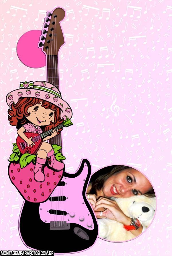 Moldura Guitarra Moranguinho