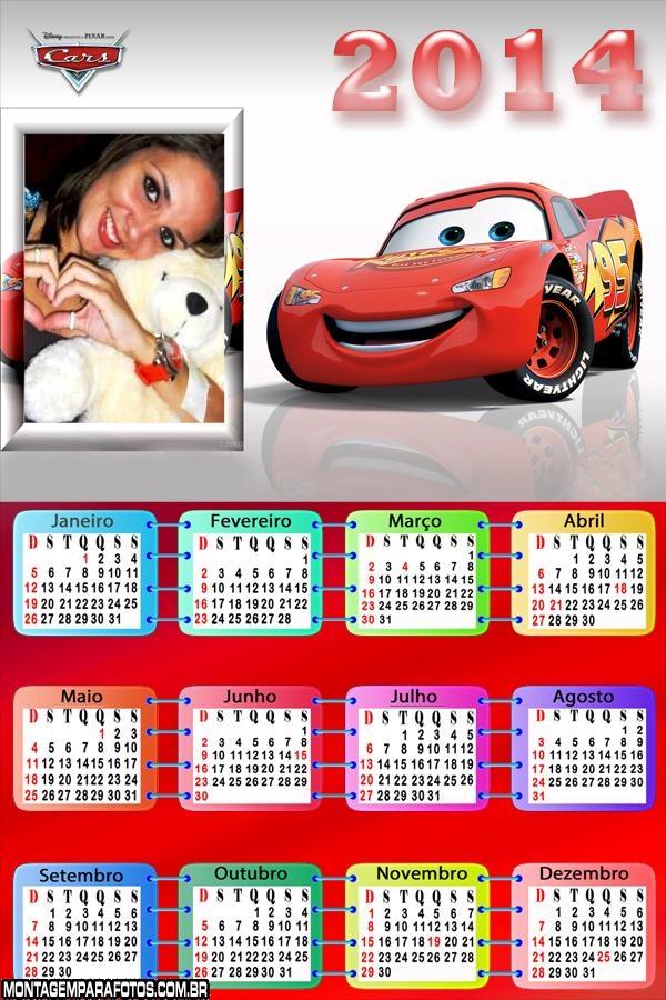 Calendário 2014 Car McQueen