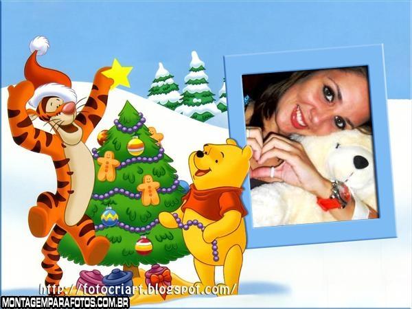 Natal Ursinho Pooh Moldura