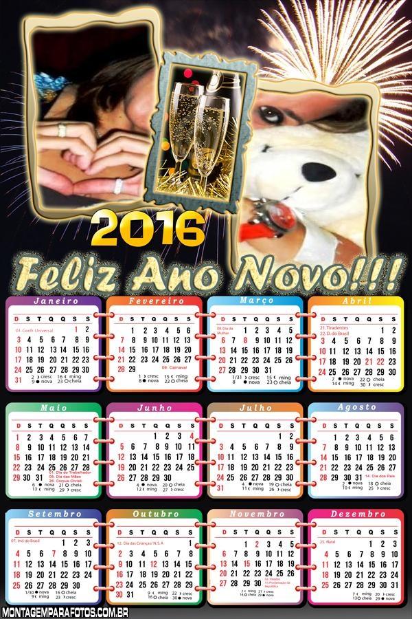 Calendário Final de Ano Reveillon 2016