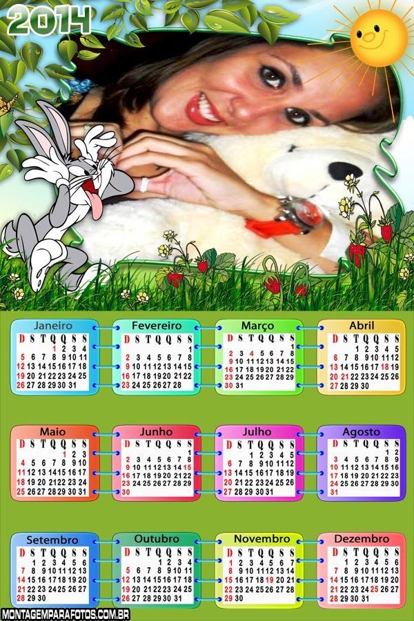 Calendário 2014 Pernalonga