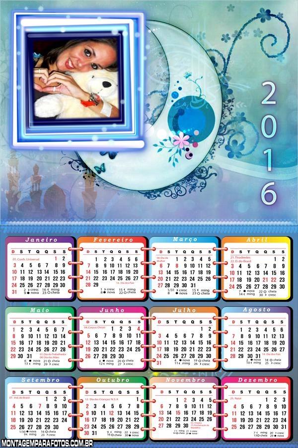 Calendário da Lua 2016
