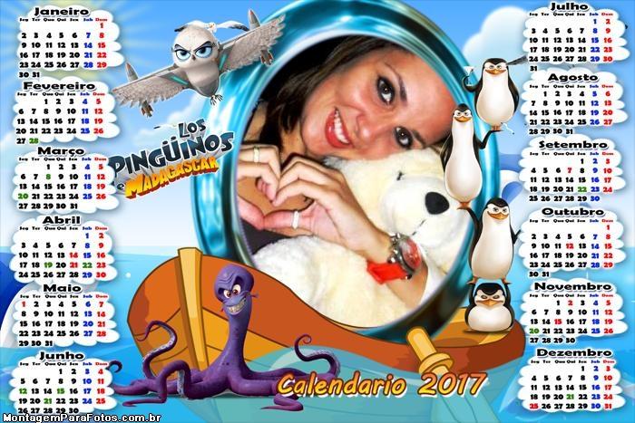 Calendário 2017 Los Pinguinos