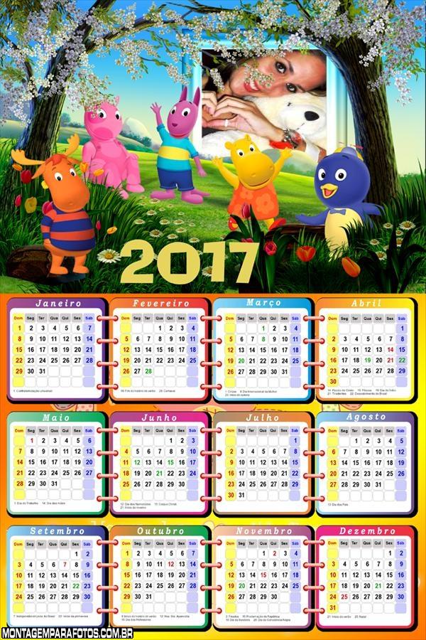 Calendário 2017 Backyardigans Personagens
