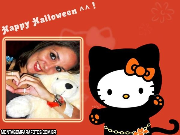 Moldura Halloween Hello Kitty