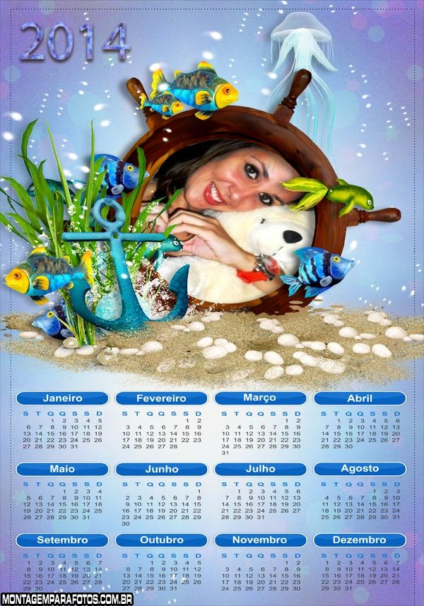 Calendário 2014 Aquários