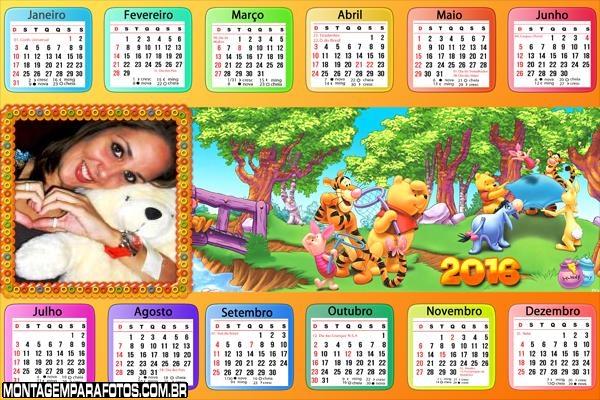 Calendário Winnie The Pooh 2016