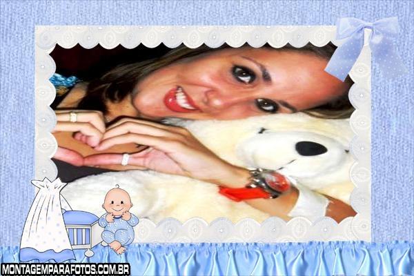 Moldura Renda Bebê Azul