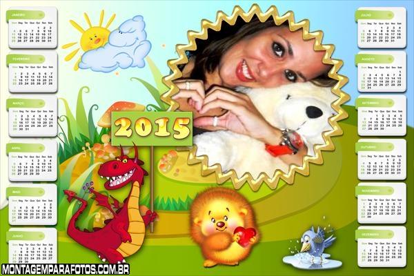 Calendário 2015 Dragão