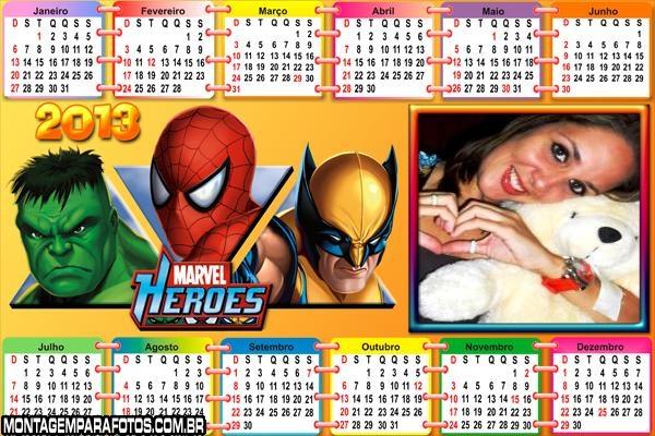 Calendário Marvel 2013