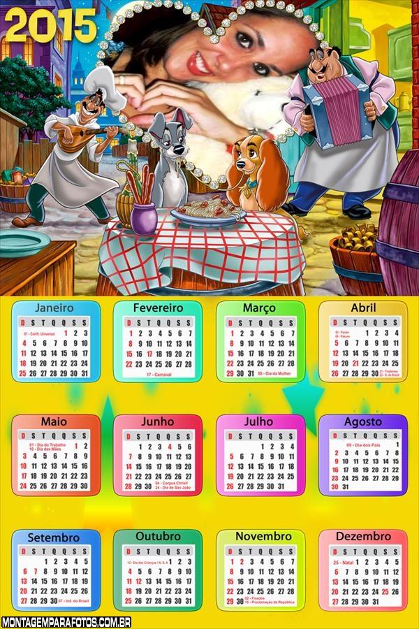 Calendário 2015 A Dama
