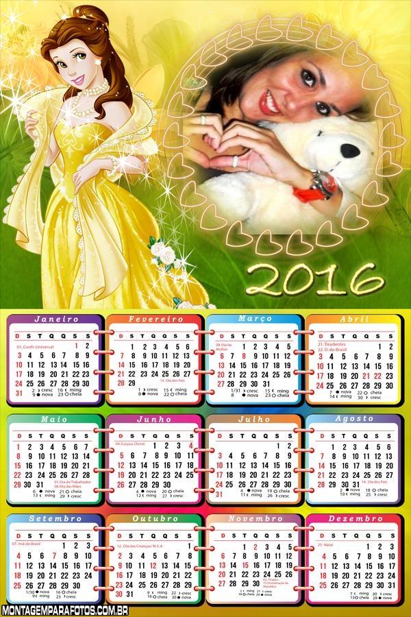 Calendário Princesa Bela 2016