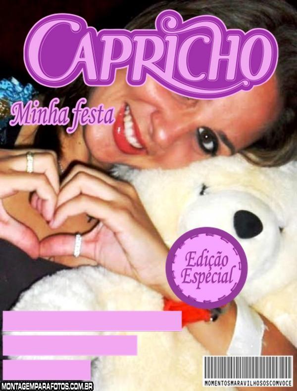 Moldura Revista Capricho Roxa