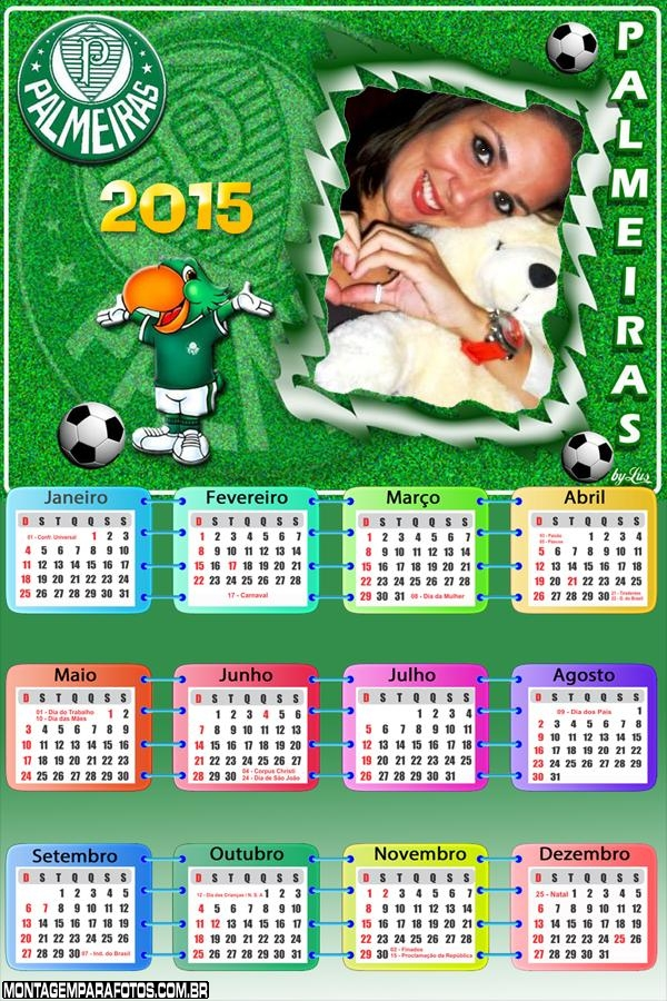 Moldura Calendário 2015 Palmeiras