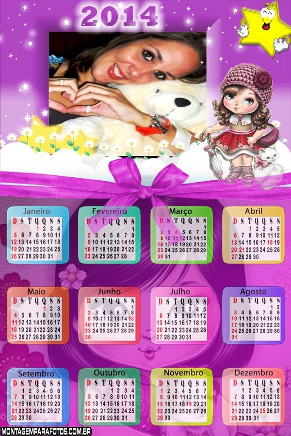 Calendário 2014 Jolie Boneca