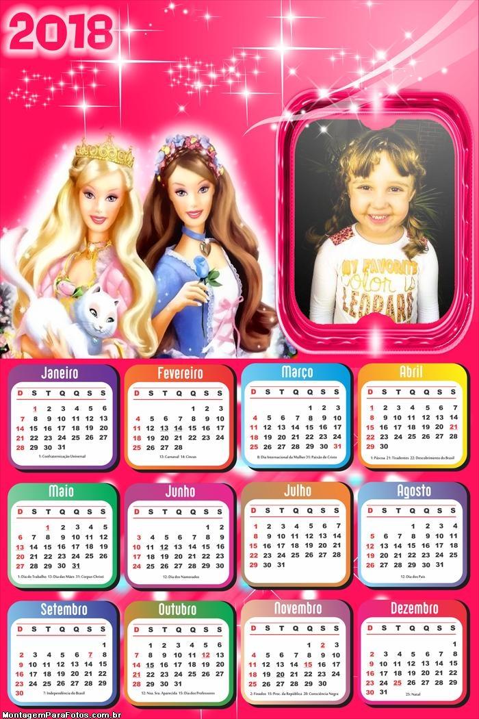 Calendário 2018 Barbie Butterfly
