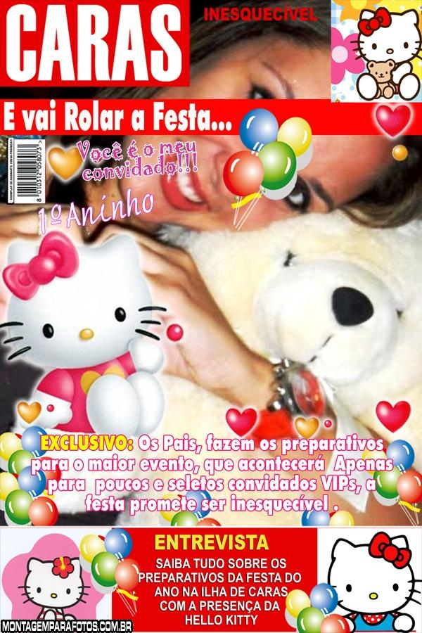 Convite Hello Kitty Revista