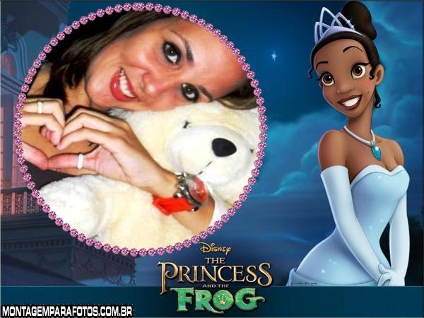 Moldura Princesa Negra Disney