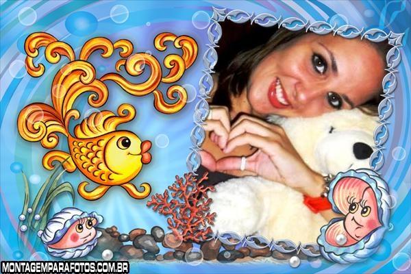 Moldura Peixe e Conchinhas