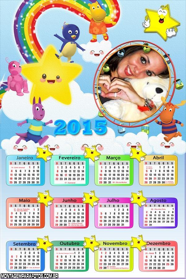 Calendário 2015 Backyardigans