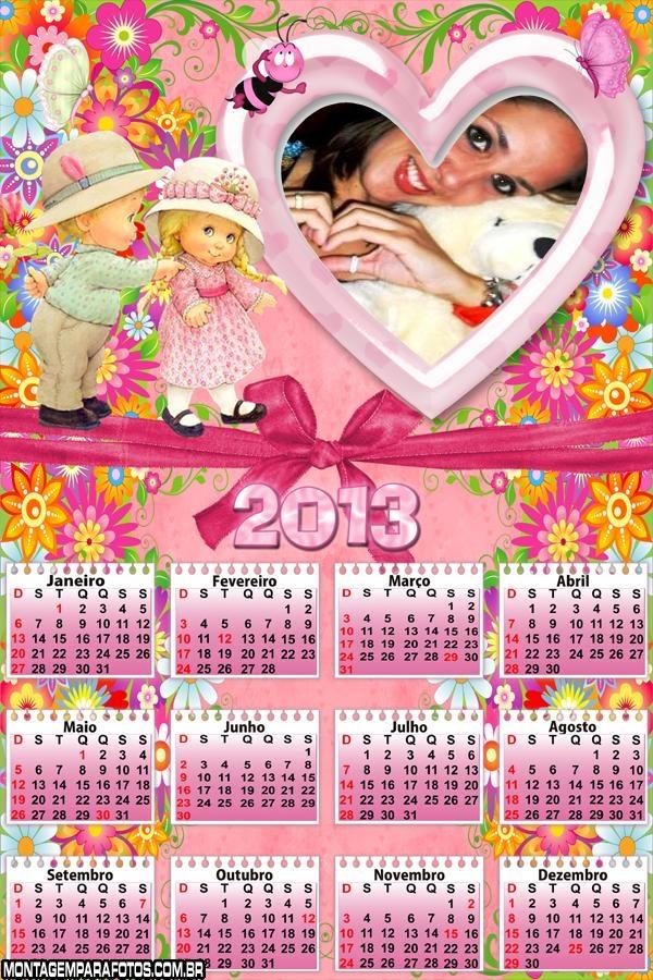 Moldura Calendário Infantil 2013