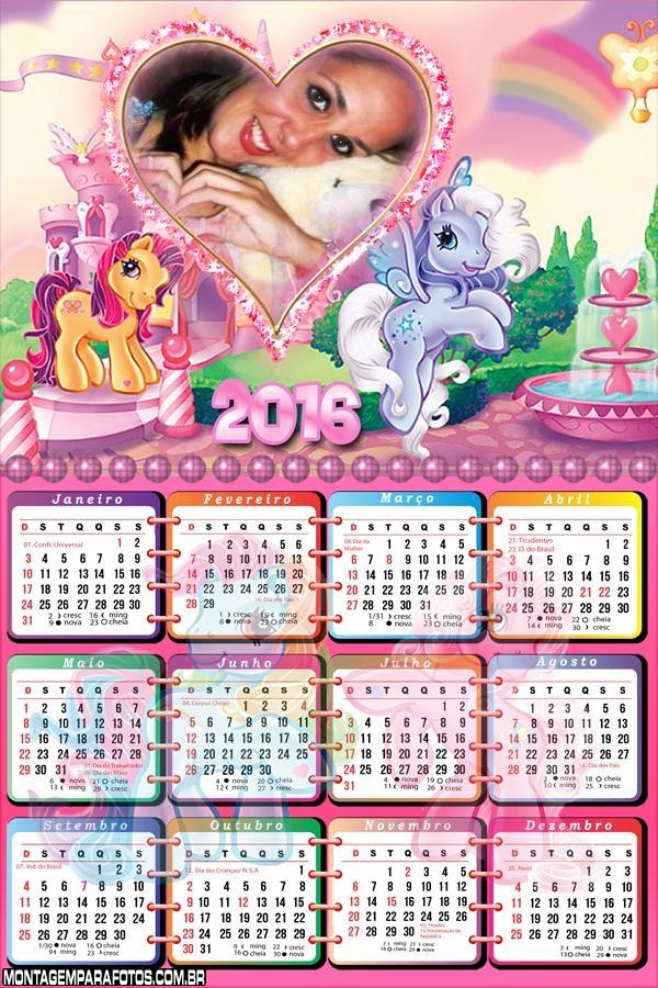 Calendário Ponny Coloridos 2016