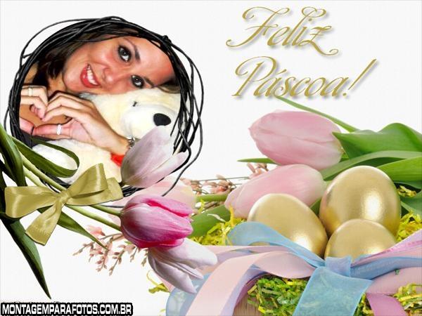 Feliz Páscoa Flores e Ovos