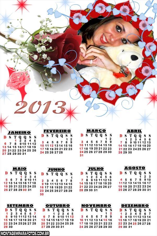 Rosa Bonita Calendário 2013