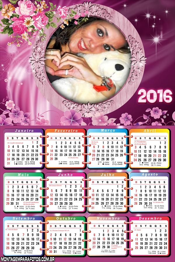 Calendário das Flores 2016