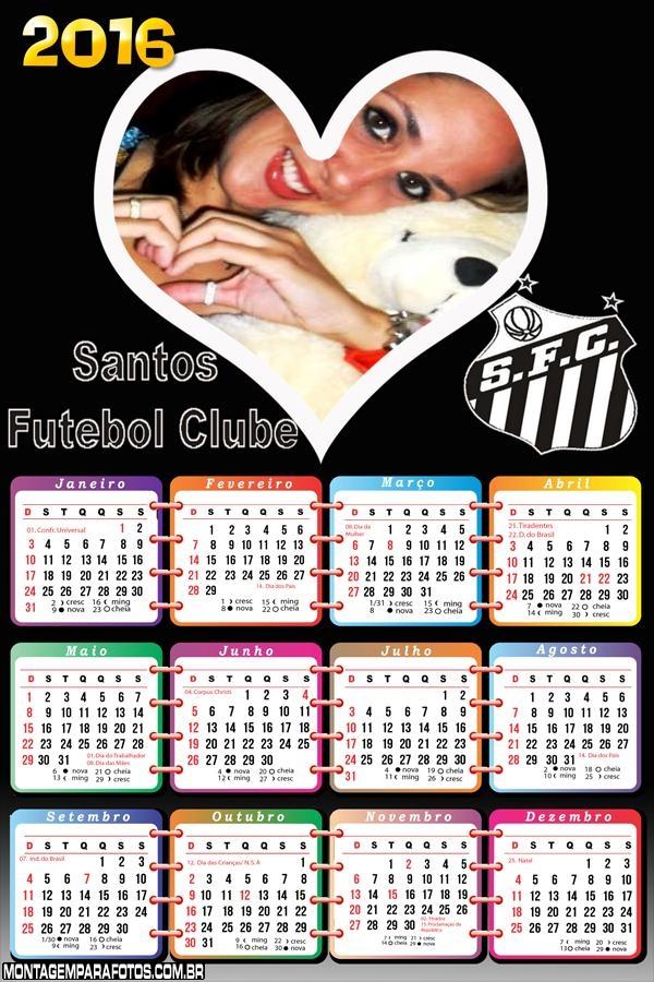 Calendário Santos Futebol 2016