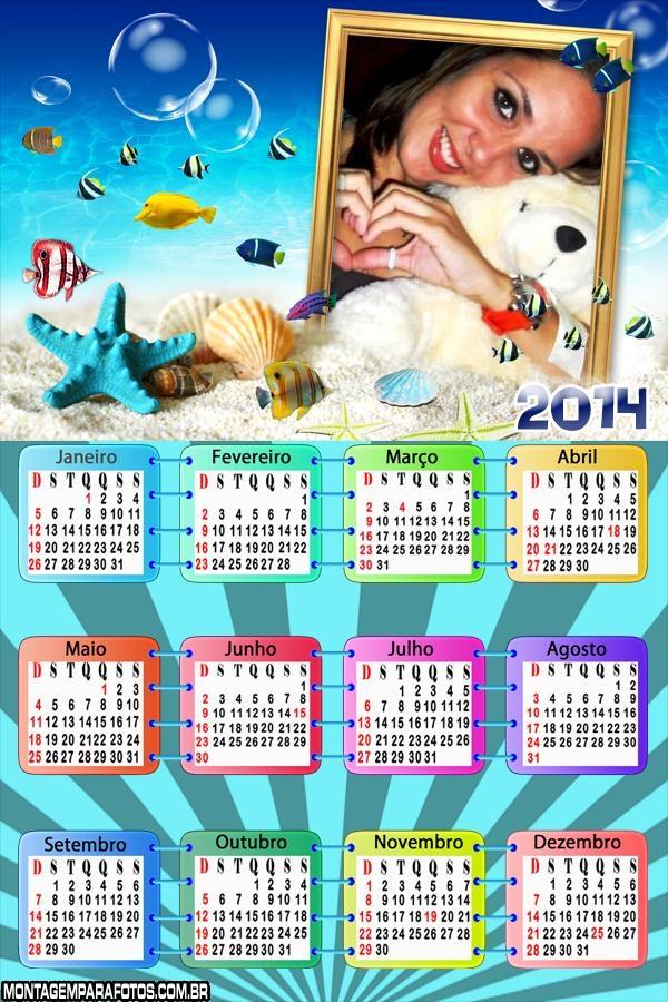Calend�rio 2014 Fundo do Mar