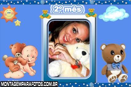 Moldura Bebê Dois Meses