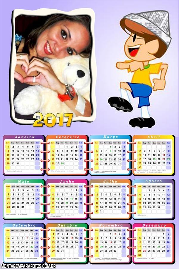 Calendário 2017 Soldado da Galinha Pintadinha
