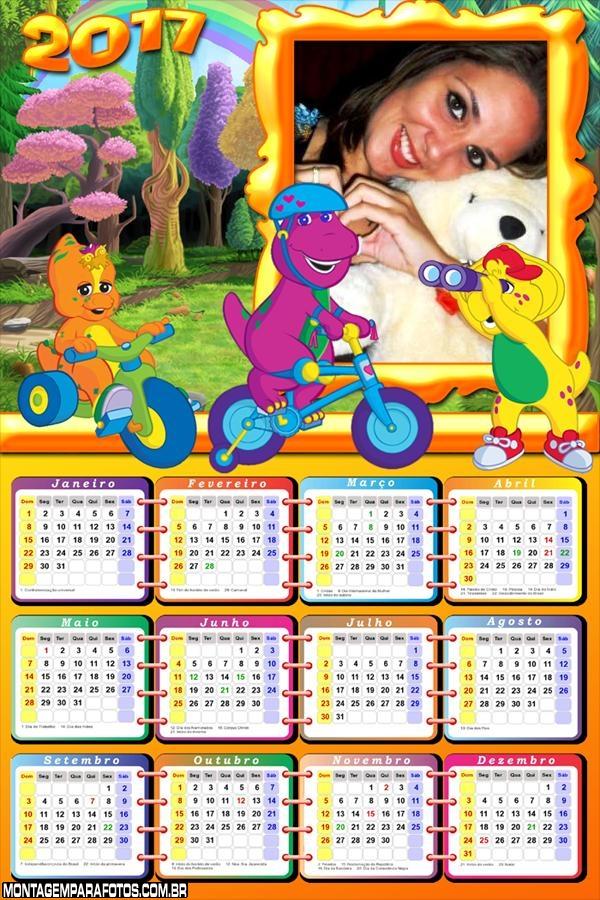 Calendário 2017 Personagens Barney Baby