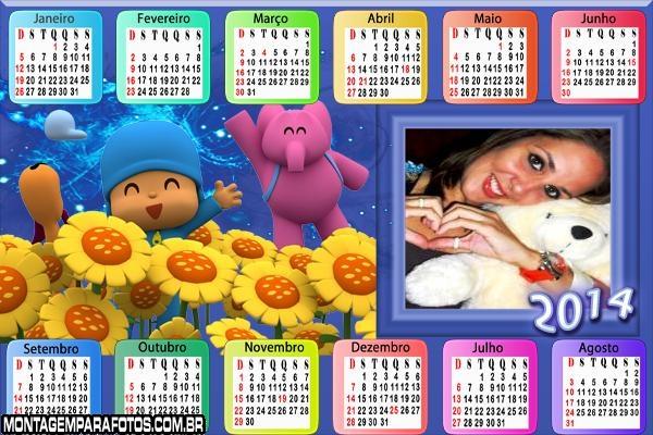 Calendário 2014 Pocoyo